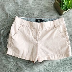 J. Crew || Blush Chino Shorts Size 4